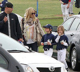 Kate Hudson Reunites With Ex Chris For Ryder's Little League!