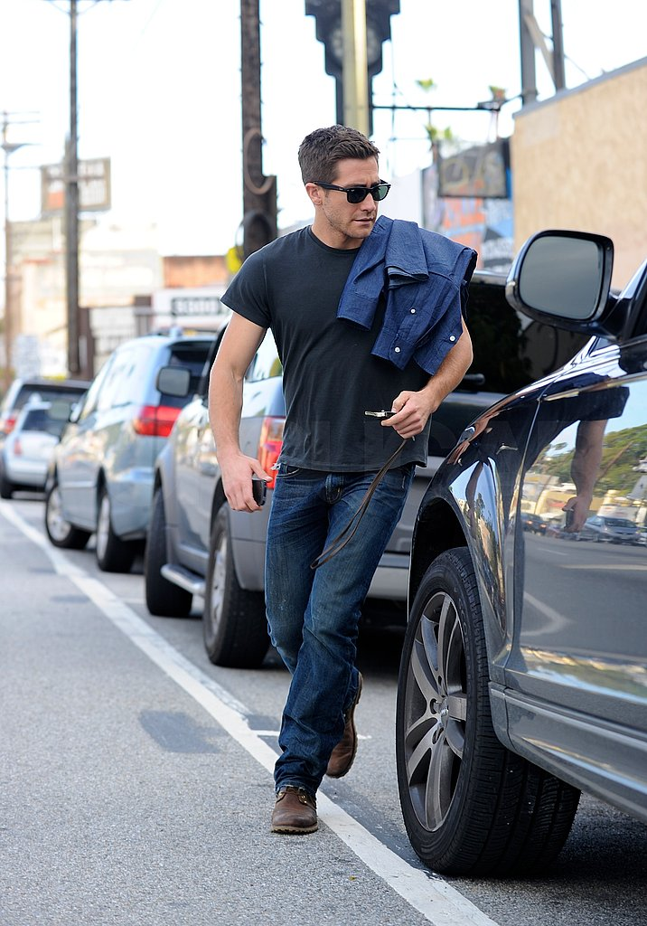 Jake Gyllenhaal Splits His Saturday Between Bikes and His Boys