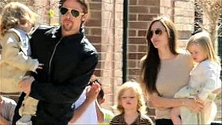 Video of Brad Pitt and Angelina Jolie With Maddox, Zahara, Pax, Shiloh, Knox and Vivienne Out in New Orleans