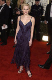 Reese Witherspoon in Purple Lace Dress at 2002 Golden Globe Awards