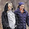 Pictures of Tina Fey and Pregnant Jane Krakowski in Costume on the Set of 30 Rock