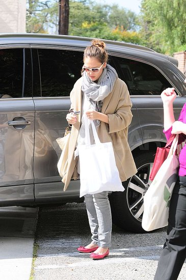 Jessica Alba Gets Back to Business Following Some Family Fun