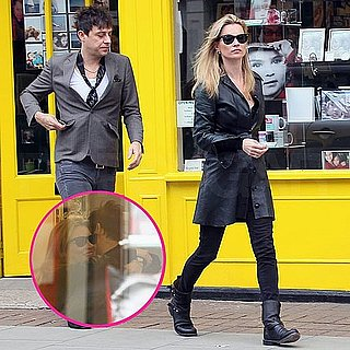 Pictures of Kate Moss Kissing Fiancé Jamie Hince in a London Snappy Snaps