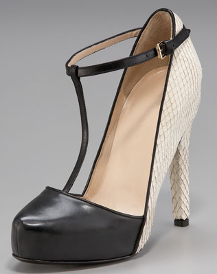 The spectator pump gets a cool update in this 3.1 Phillip Lim T-Strap Platform ($850).