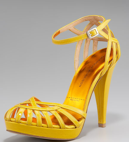 It would be impossible to have a bad day when you wear this bright yellow Sigerson Morrison Sandal ($650)