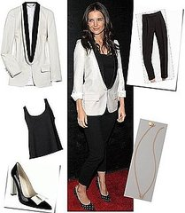 Steal Katies Holmes' Sleek Tuxedo Style: Shop Her look Online