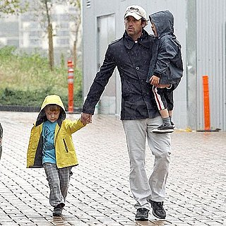 Pictures of Patrick Dempsey Visiting Malibu's Lumber Yard With His Twins Darby and Sullivan