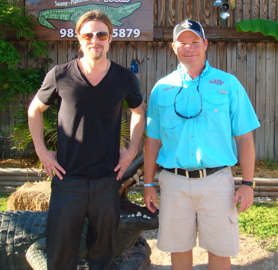 Brad Pitt and Angelina Jolie Treat Their Kids to a Cajun Alligator Encounter!