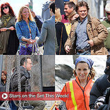 Matt Damon, Tom Hanks, Tina Fey, and Blake Lively on Movie Set