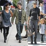 Pictures of Halle Berry in LA With Daughter Nahla Aubry and Boyfriend Olivier Martinez