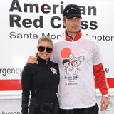 Josh Duhamel, Fergie, Paris Hilton, and Dianna Agron at Red Cross Tokidoki Relief Run For Japan