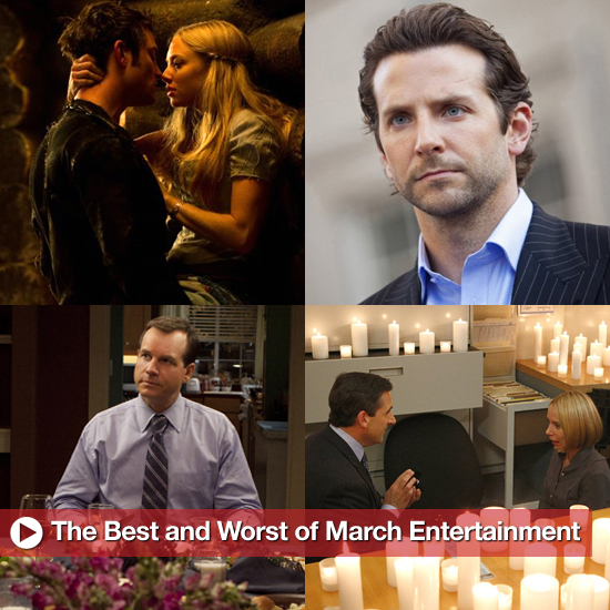Best and Worst of March Entertainment, Including The Office Proposal, Casey Abrams&#039;s Idol Meltdown, and Big Love&#039;s Series Finale