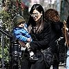 Pictures of Sandra Bullock and Louis Leaving Their Manhattan Home