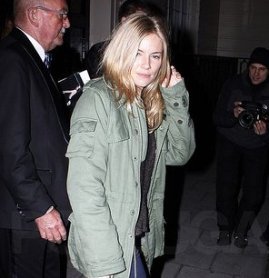 Pictures of Sienna Miller Leaving a Performance of the Play Flare Path in London