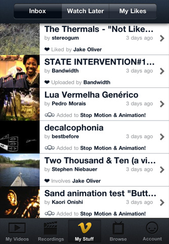 Vimeo Launches Free iPhone App