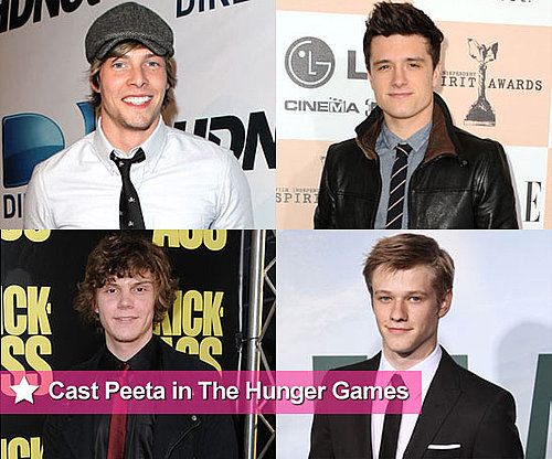 Casting Ideas For Peeta in The Hunger Games Movie Including Hunter Parrish and Josh Hutcherson