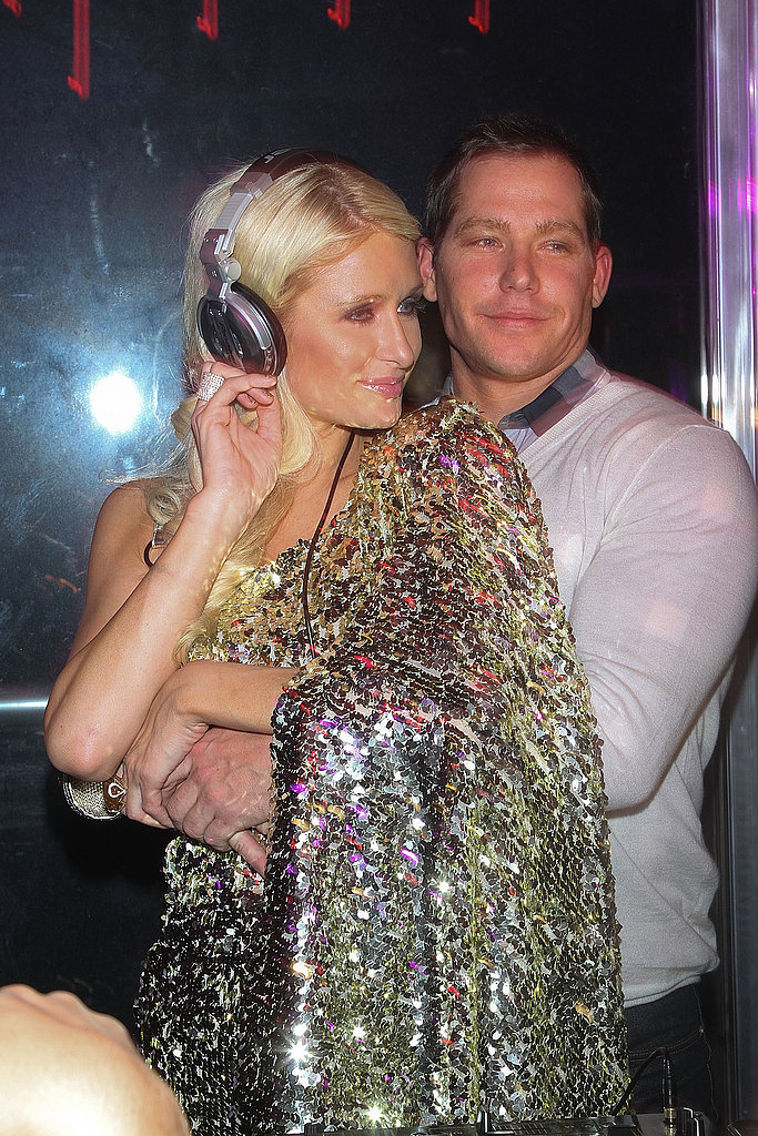 Paris Hilton Puts Her Best Foot Forward For a Party and PDA With Cy Waits