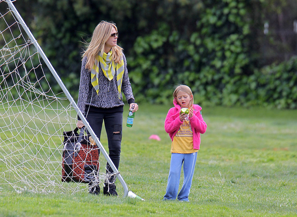 Heidi Klum Kicks It With Leni, Henry, Johan, Lou and Their Pups at the Park