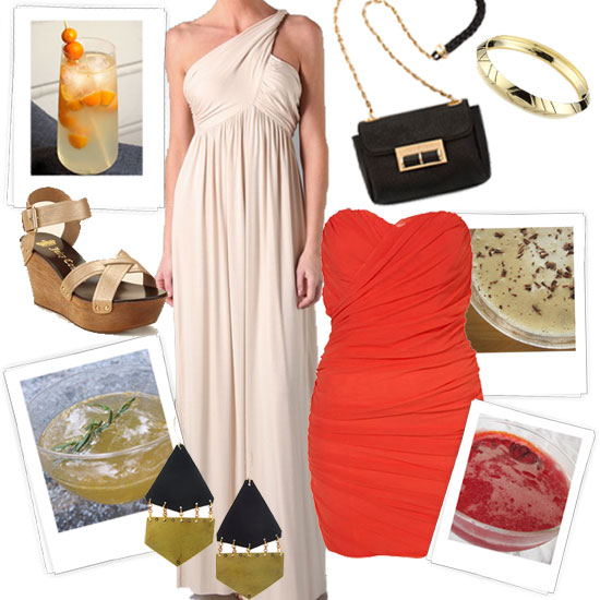 4 Chic Spring Cocktail Party Outfits, Inspired by Yummy Cocktails
