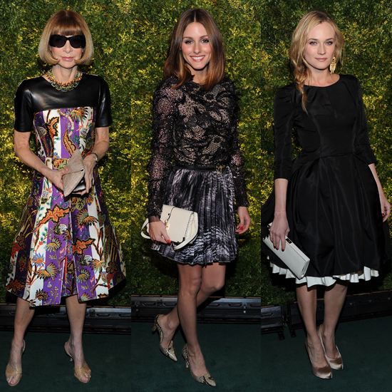 Diane Kruger, Olivia Palermo, and Anna Wintour Show Their Green at Fashion Show and Christie's Auction