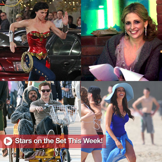 Pictures of Sarah Michelle Gellar, Adrianne Palicki, Sofia Vergara on the Set