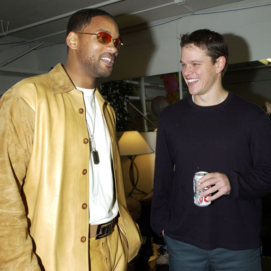 It was a manjoyable moment in 2002 when Will Smith and Matt Damon swapped stories backstage during the show.
