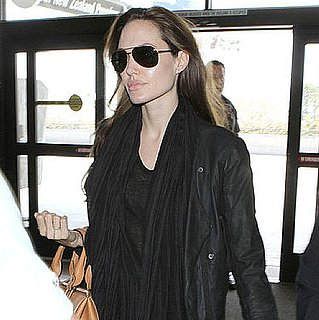 Pictures of Angelina Jolie at LAX