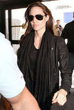 Angelina Jolie Makes a Solo Arrival to LAX
