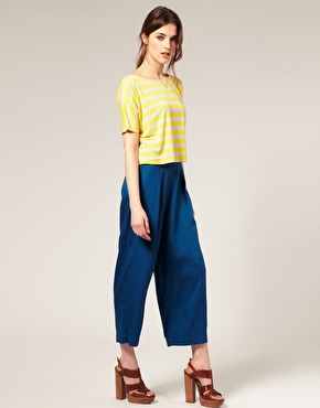 ASOS Premium High Waist Cropped Wide Leg Pants ($72)