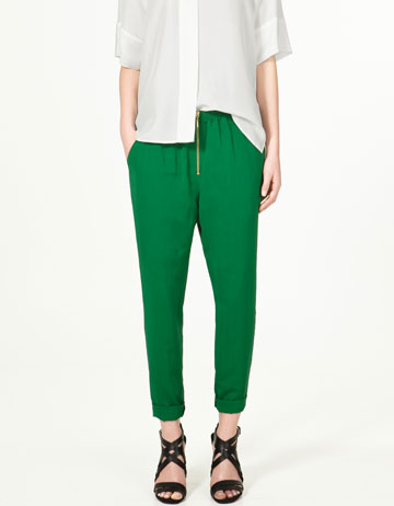 Zara Zip Trousers ($40)