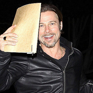 Pictures of Brad Pitt Smiling Out to Dinner in LA