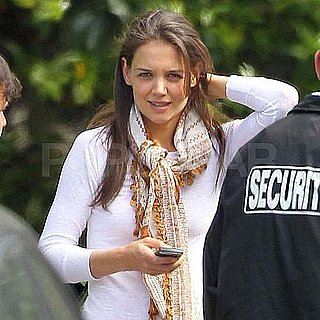 Pictures of Katie Holmes at Sony Studios in LA