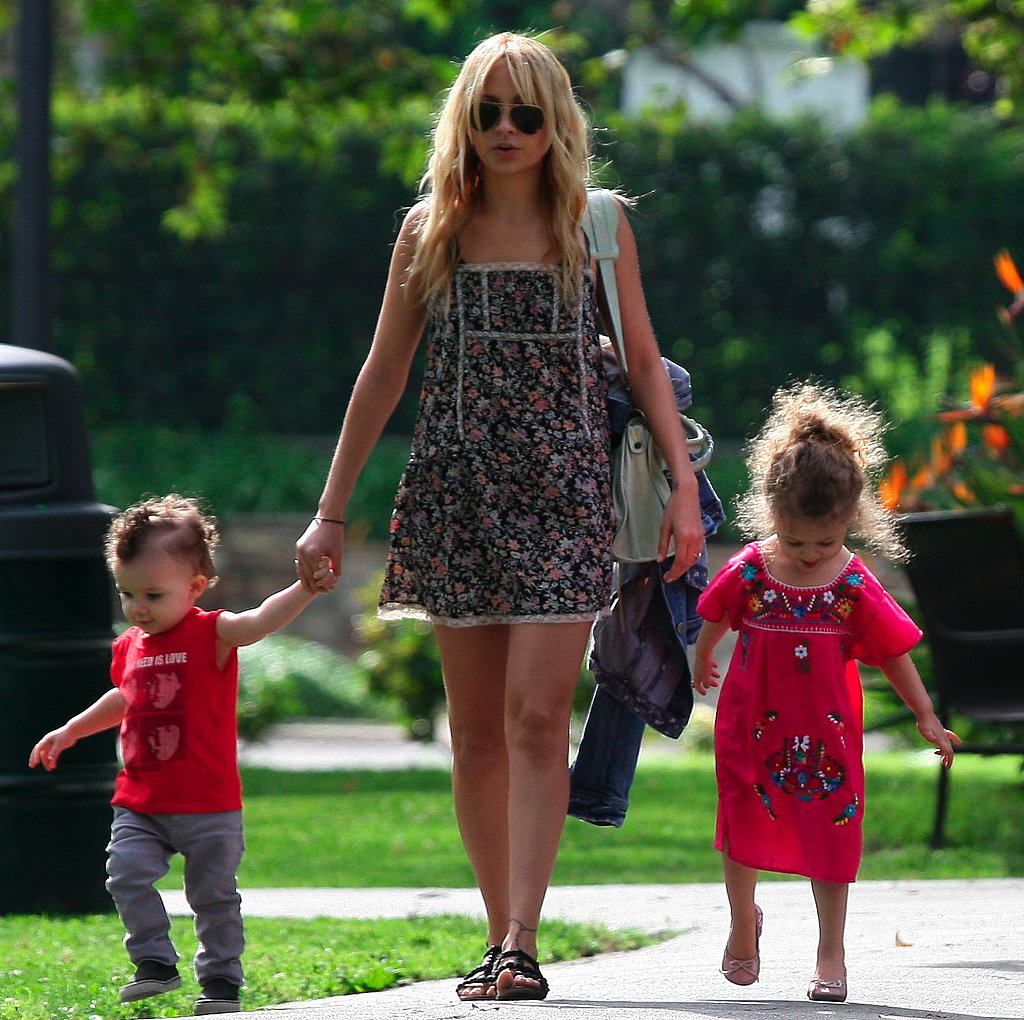 Nicole Richie Has a Play Day With Harlow and Sparrow While Joel Heads Down Under