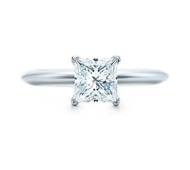 Brilliant and beautiful, need we say more?  Tiffany 1 Carat Princess Cut Diamond Ring (From $8,250)