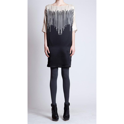 Drip Dress With Sleeve