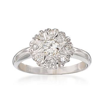This Ross Simons vintage diamond ring ($596) looks like a flower.