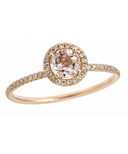 This Meira T diamond and Morganite ring ($563) is so sophisticated and pretty.