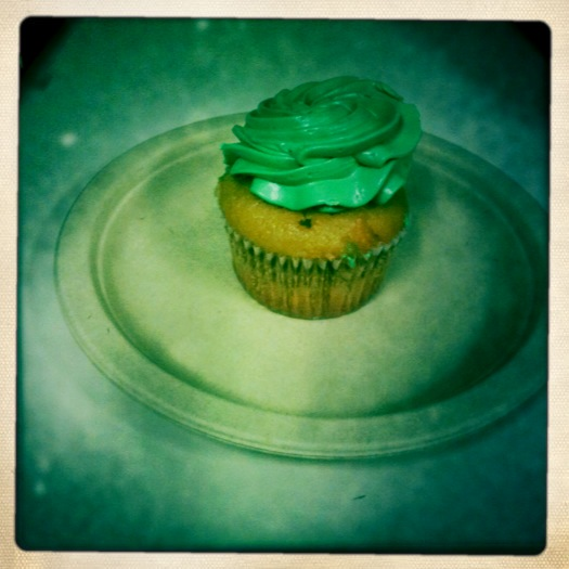 St. Patrick&#039;s Day Cupcake