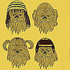 Chewbacca Wearing Nine Iconic Hairstyles