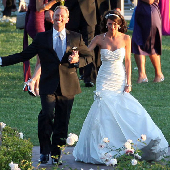 Ian Ziering's May 2010 wedding to Erin Ludwig was a 90210 reunion in Newport Beach, CA.