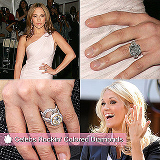 Celebrities With Colored Diamond Rings