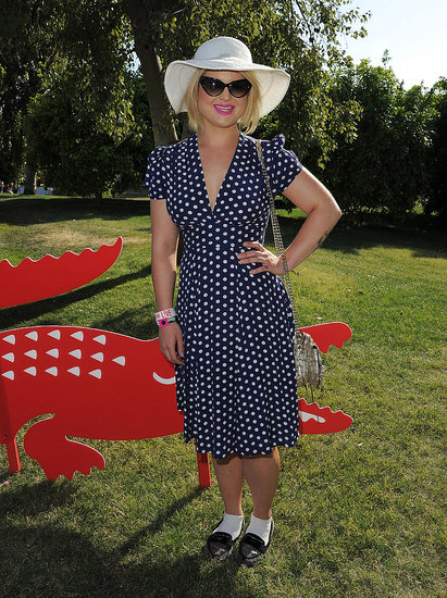 Kelly Osbourne opted for sweet polka dots at Lacoste's pool party.