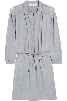 Vanessa Bruno Athé Embroidered Shirt Dress ($370)