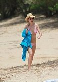 Hilary Swank Hits the Beach With Perfectly Sculpted Bikini Body