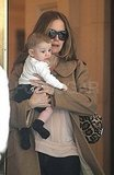 Kelly Preston Shows Off Baby Benjamin in the Big Apple