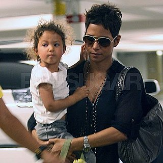 Pictures of Halle Berry and Nahla Aubry Arriving at the Staples Center in LA