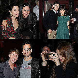 Courteney Cox etait tres entouree a la soiree post avant premiere de Scream 4