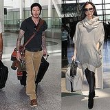 Victoria Beckham Finally Debuts Bigger Baby Bump as She and David Take Off