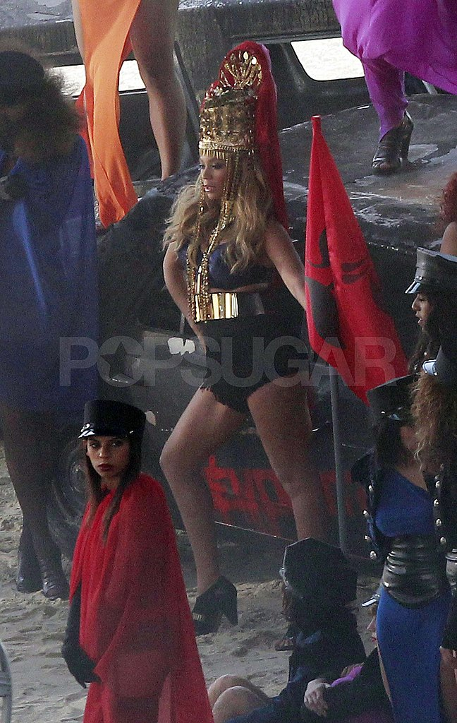 Beyoncé Knowles Shoots Sexy, Fiery New Music Video