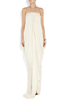 A breezy, beautifully draped silhouette that feels completely contemporary and youthful.  Acne Delirious Silk Maxi Dress ($800)